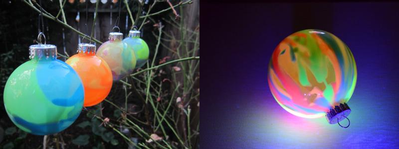 Светящиеся новогодние шарики