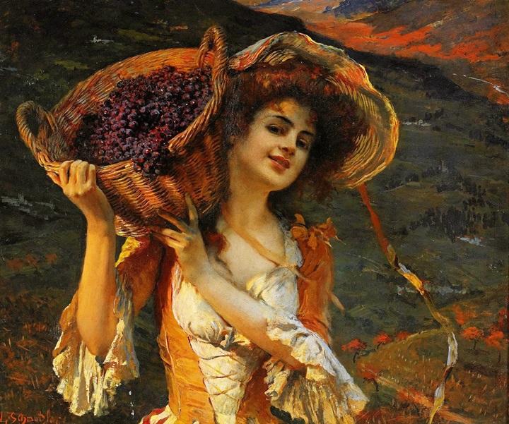 Сборщица винограда.