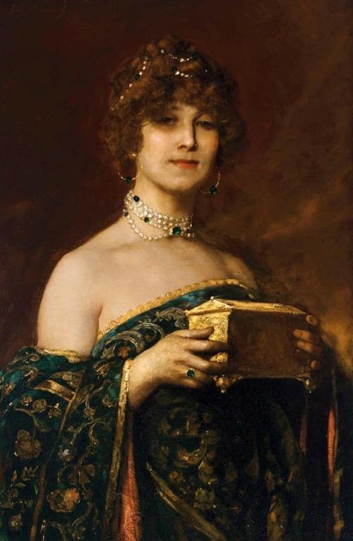 Дама с ларцом (Прима Донна Маргарита в Песне драгоценностей из Фауста Гуно)