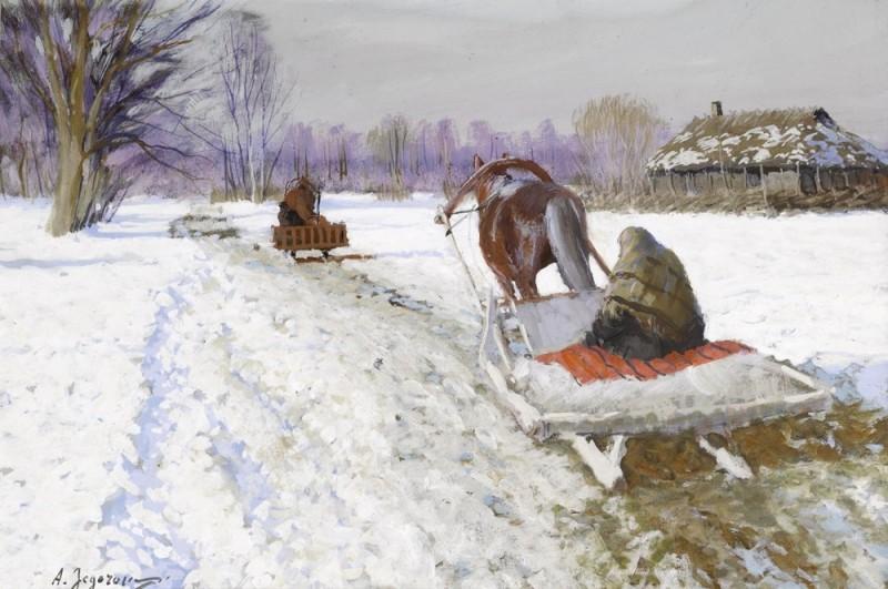 Снежная дорога.