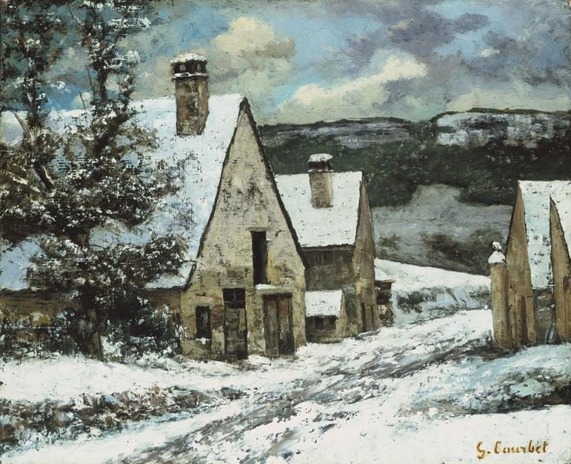 Деревня зимой.