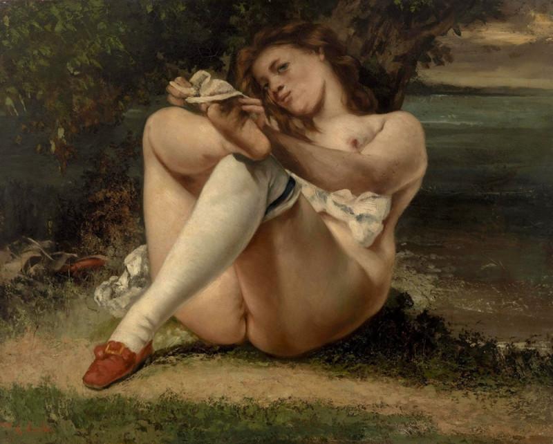 Женщина с белыми чулками.