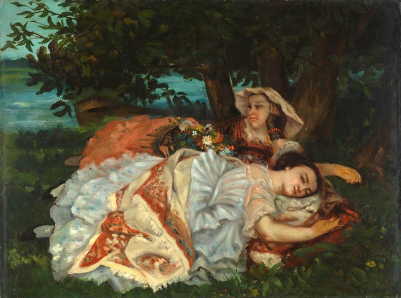 Молодые дамы на берегу Сены.