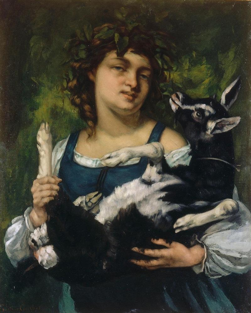 Крестьянка с козленком.