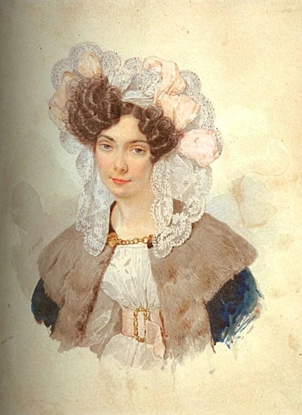 Портрет А.А. Брюлловой, жены художника