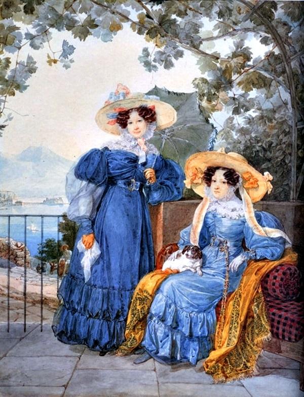 Портрет двух подруг и фрейлин — графини Екатерины Артемьевны Воронцовой (1780-1836) и княжны Елены Михайловны Голицыной (1776-1856)