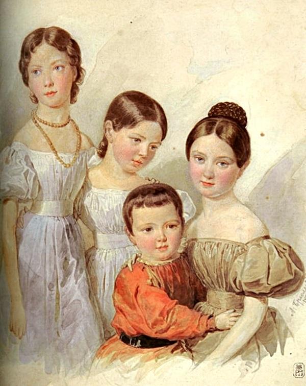 Портрет детей Ф. Ф. Шуберта, племянники художника