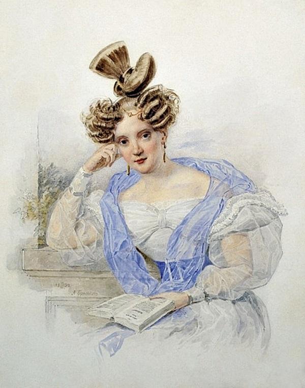 Портрет молодой женщины с книгой