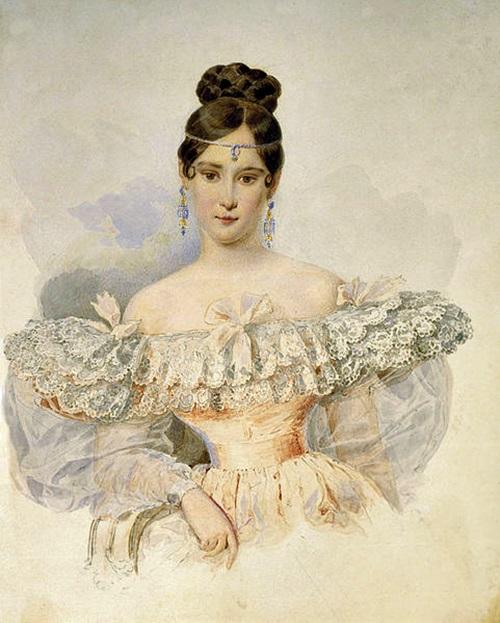 Наталья Николаевна Пушкина-Ланская (урожденная Гончарова)