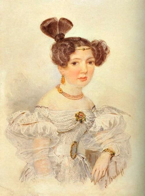 Портрет С. А. Шуберт, урождённая баронесса Раль (1801-1833), бабушка С. В. Ковалевской