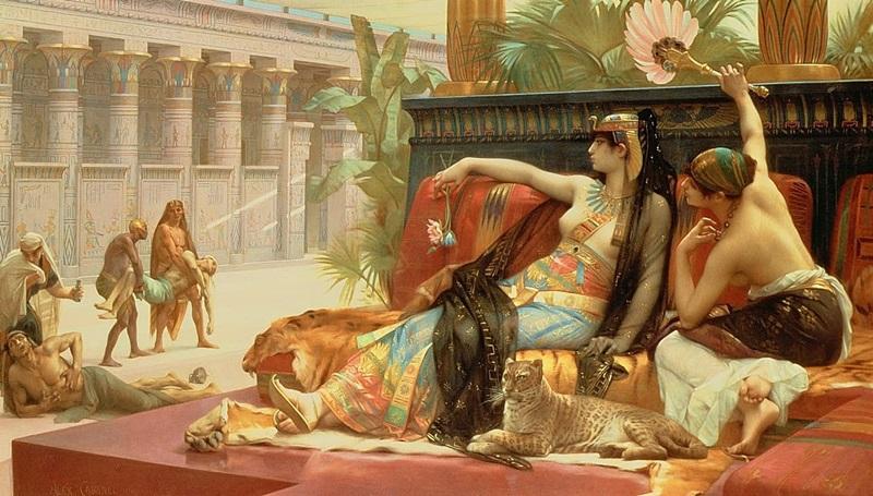 Клеопатра испытывает яды на приговоренных к смерти