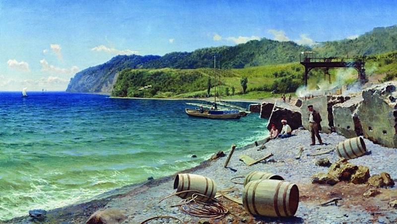 Каменоломня на берегу Черного моря