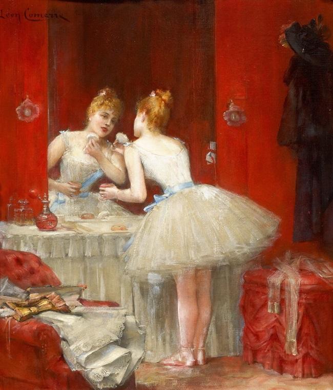 Балерина в артистической уборной.