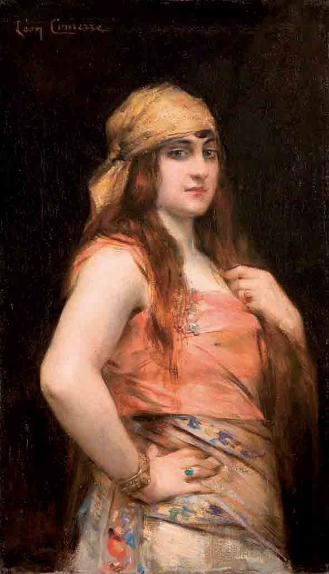 Молодая женщина в платке.