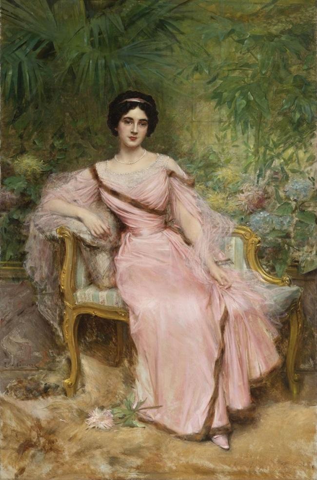 Портрет Сюзанны Юдело, урожденной Арман, сидящей в зимнем саду.