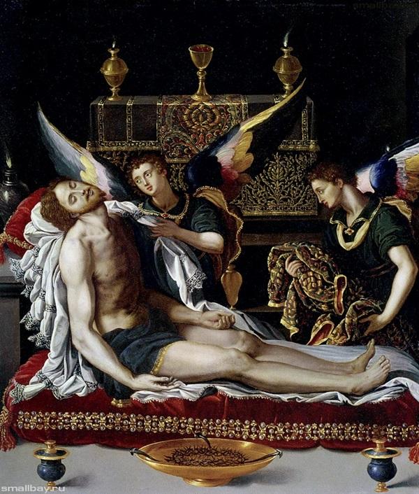 Два ангела у тела Христа,1600