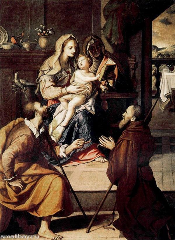Святое семейство и кардинал Медичи,