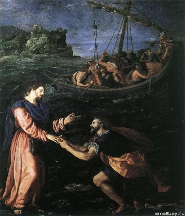 Святой Пётр,идущий по воде.