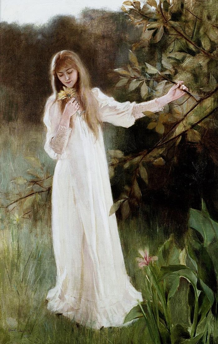 Молодая женщина в белом