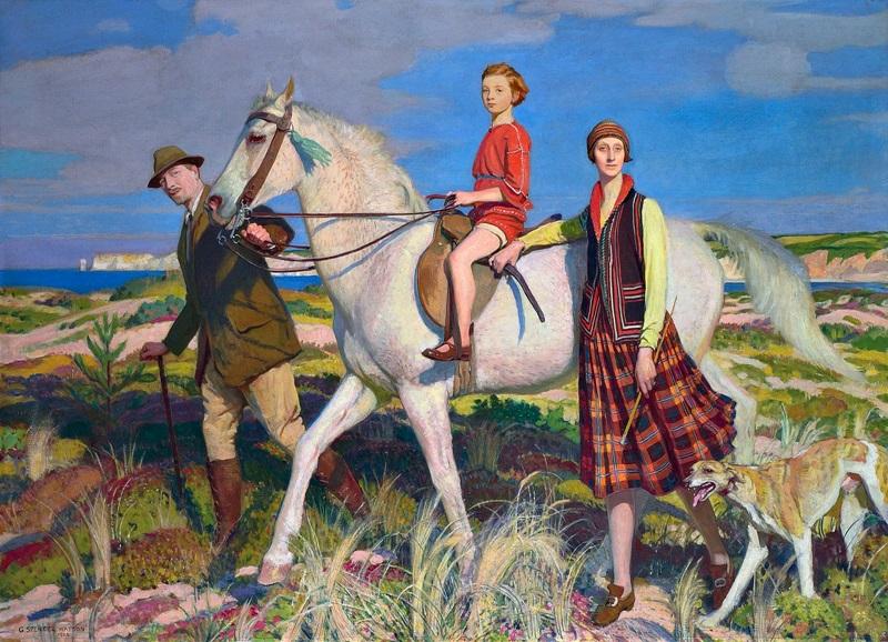 Мои четыре любви - женщина, ребенок, лошадь и борзая.
