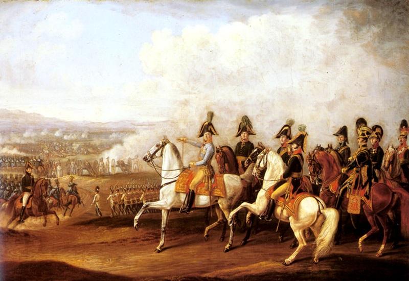 Австрийские штабные офицеры, наблюдающие за ходом сражения