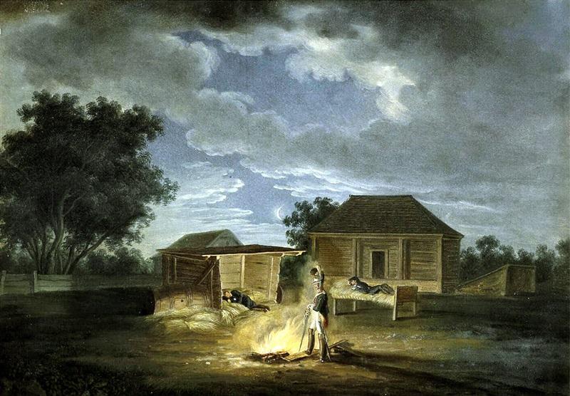 Велки Солечники. Штаб-квартира. Ночь с 8 на 9 июля 1812 г.