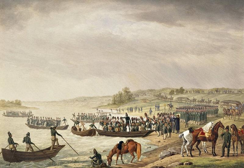 Переход итальянского корпуса Евгения Богарне через Неман 30 июня 1812 г.