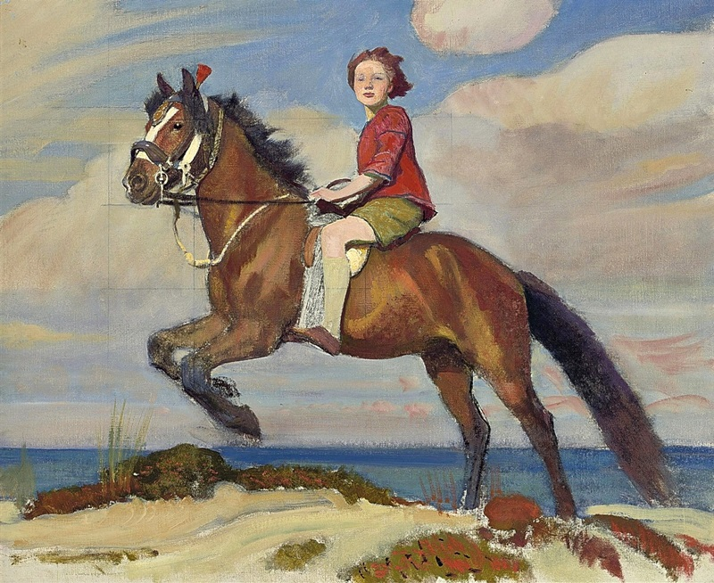 Мэри на лошади.