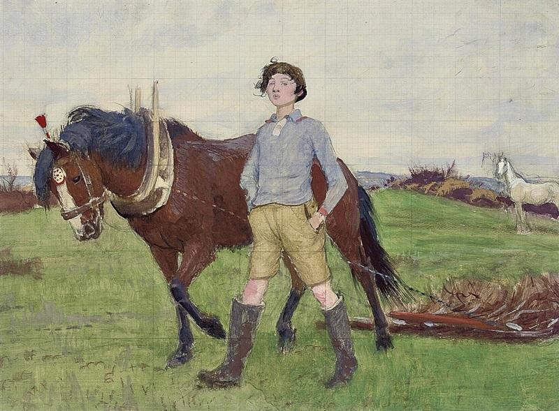 Этюд Мэри с лошадью.