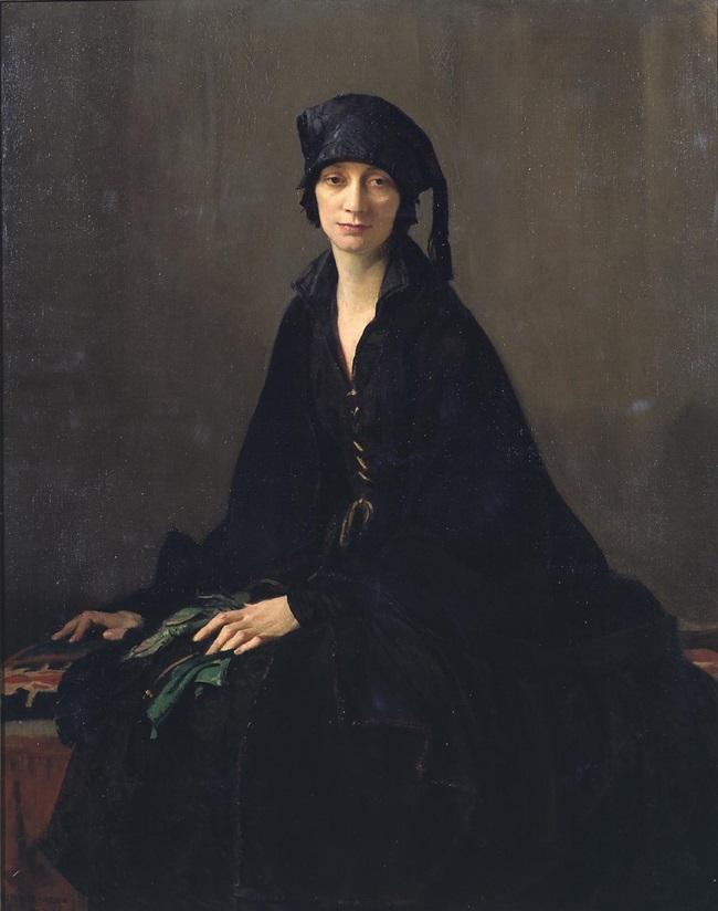 Дама в черном.