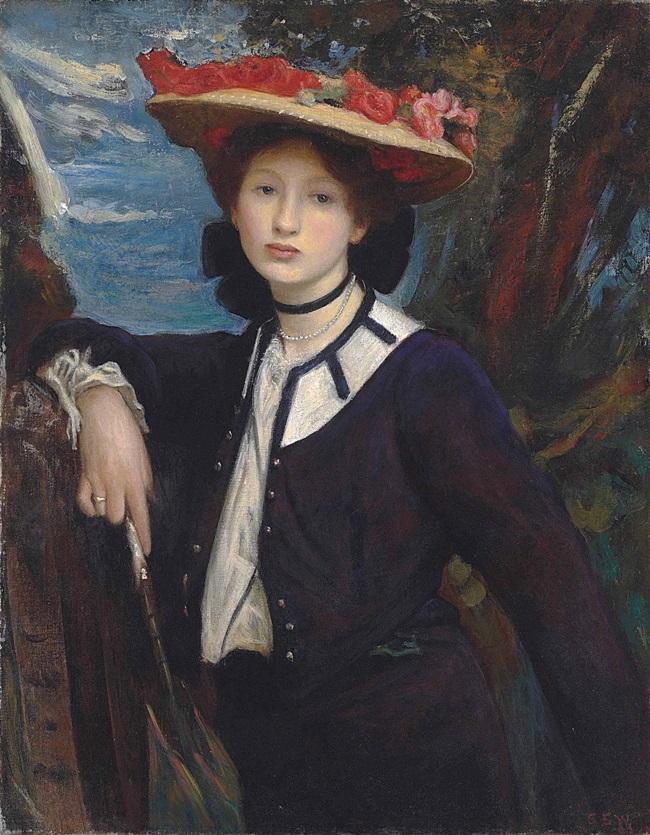 Портрет дамы с зонтиком.