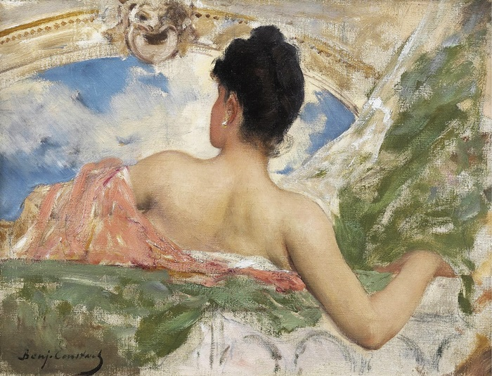 Женщина со спины, этюд фигуры для потолка в опере, Париж.