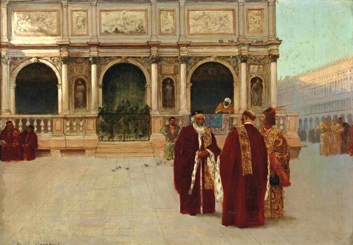 Фасад Логетты на площади Сан-Марко в Венеции.