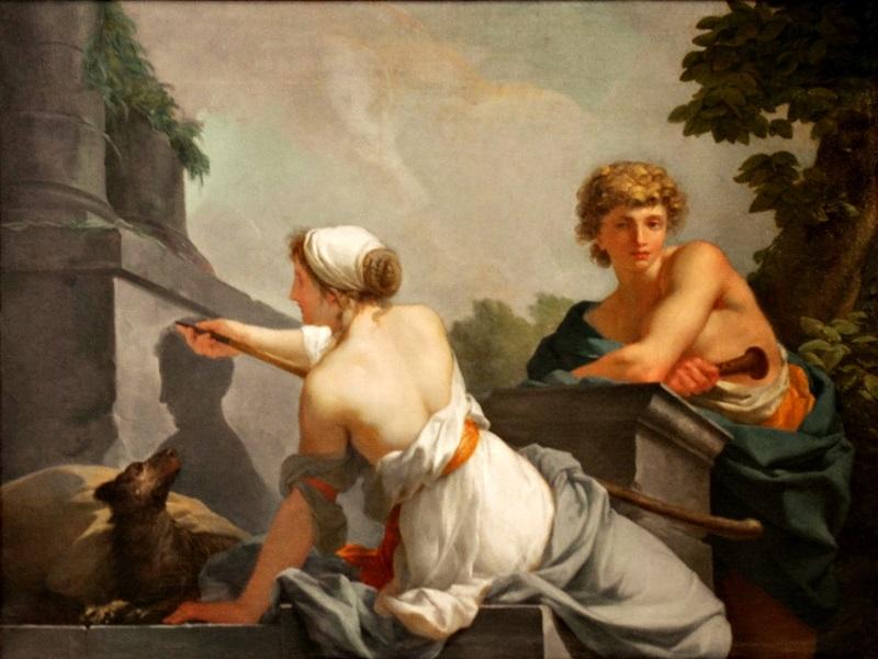 Происхождение живописи (Дибутада очерчивает профиль своего возлюбленного).