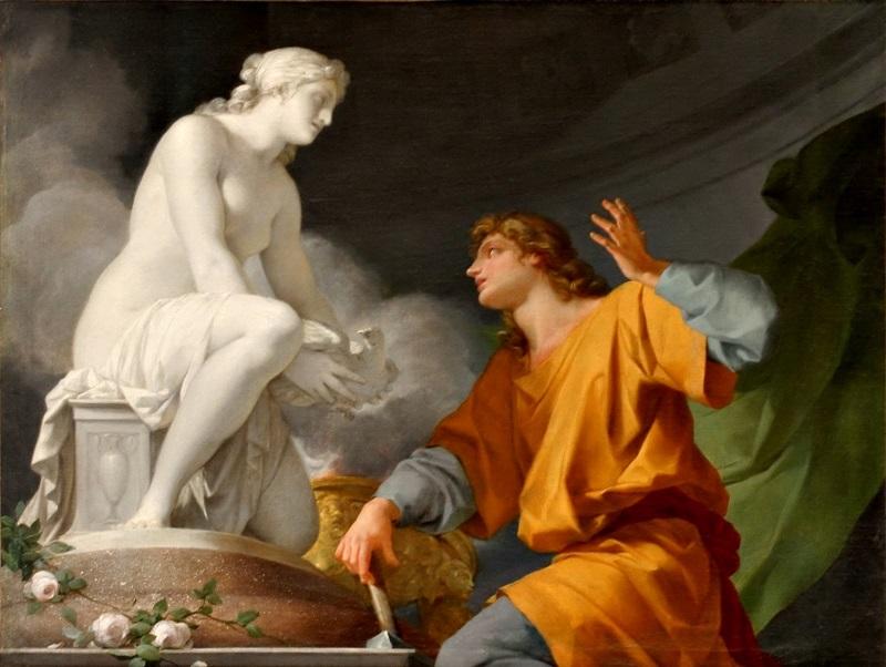 Происхождение скульптуры (Пигмалион просит Венеру оживить его статую).
