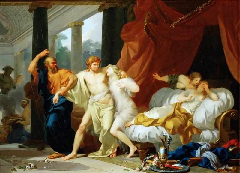 Сократ избавляет Алкивиада от сладострастных удовольствий.