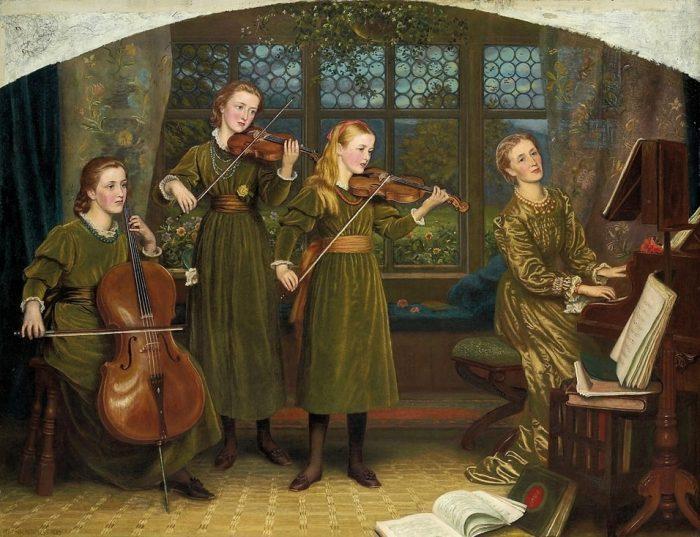 Домашний квартет, 1882 (Миссис Лашингтон с дочерьми)