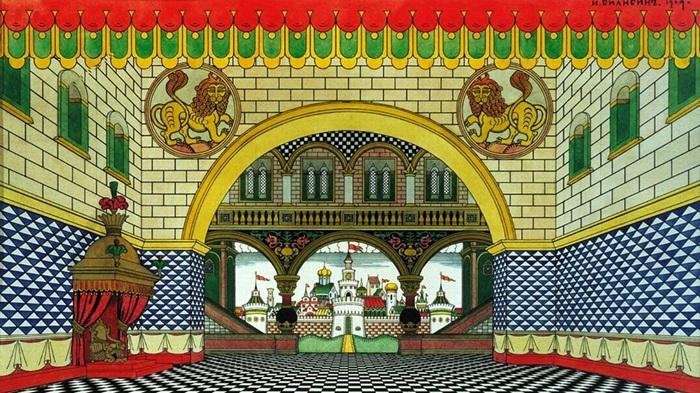 Царские палаты.Сказка Золотой петушок