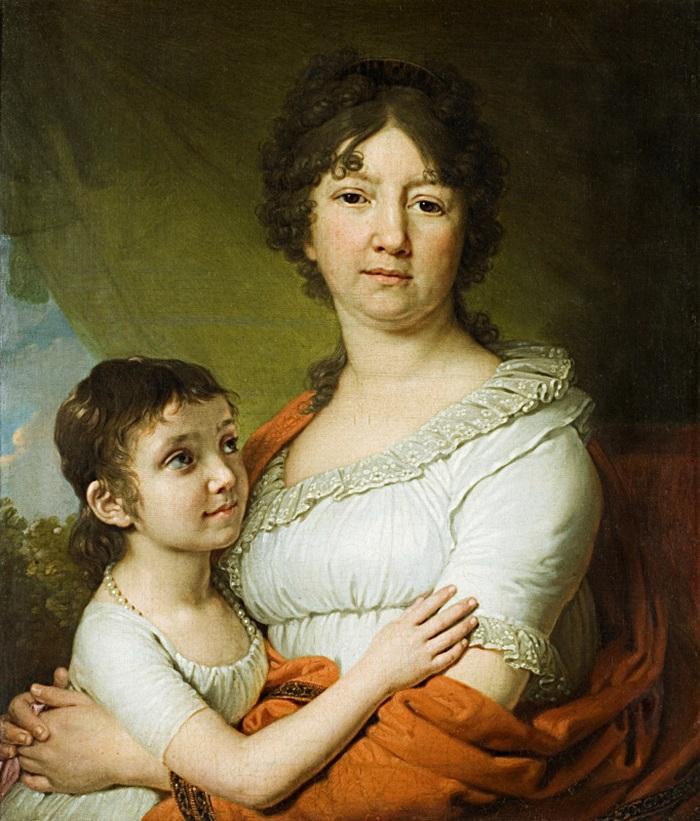 Портрет А.Е. Лабзиной с воспитанницей С.А. Мудровой