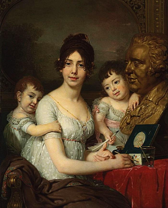 Портрет графини Любови Ильиничны Кушелевой, урожденной Безбородько с детьми