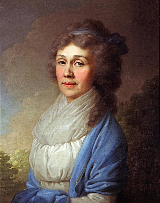 Портрет неизвестной в голубой шали