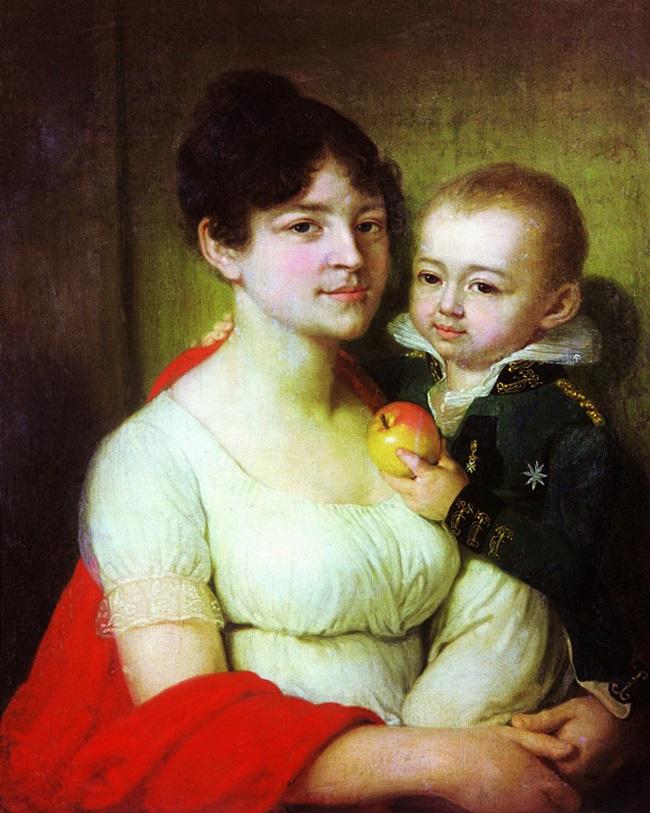 Портрет неизвестной с ребенком