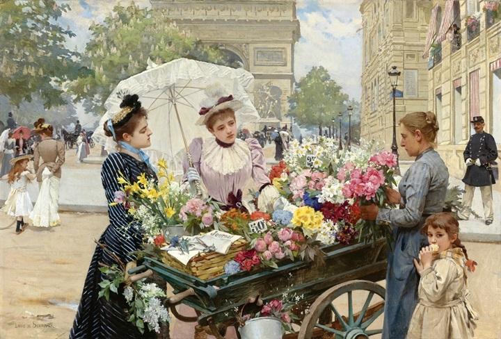 Продавщица цветов на Елисейских полях.