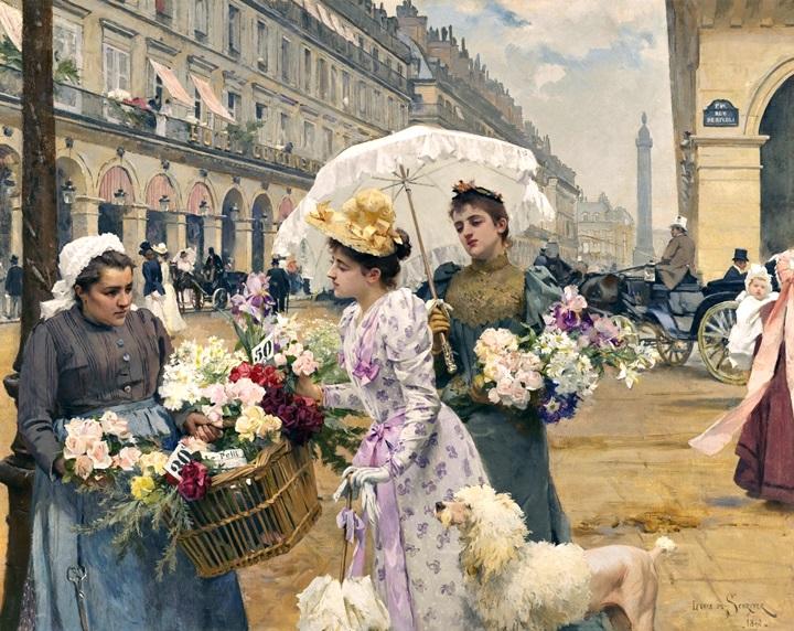 Продавщица цветов, Рю де  Риволи.