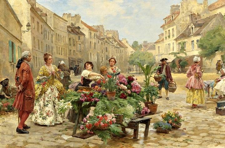 Рынок в XVIII веке.