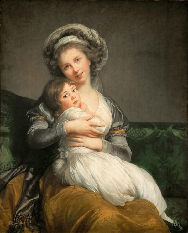 Автопортрет с дочерью Жюли