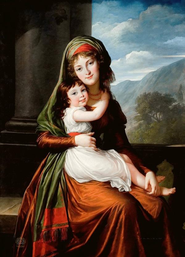 Графиня Шёнфельд с дочерью