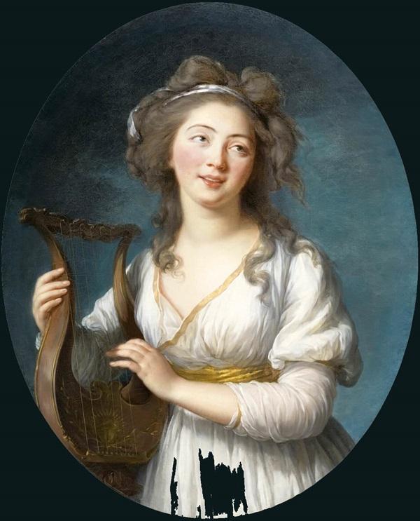 Мадмуазель с лирой