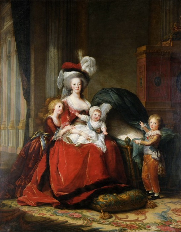 Мария-Антуанетта, королева Франции, и её дети