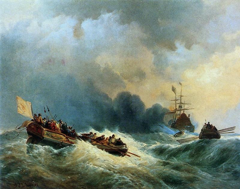 К кораблю адмирала на помощь